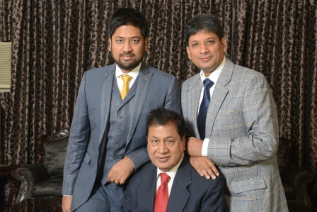 L-R - Mr. Gyanesh Chaudhary, Mr. H K Chaudhary and Mr. Anil Chaudhary