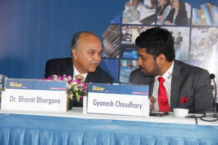 Mr. Chaudhary at InterSolar India