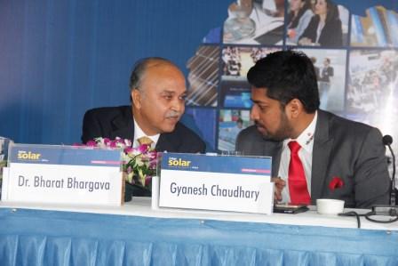 Mr. Chaudhary at InterSolar India