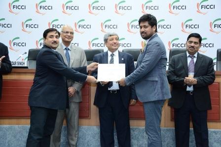 Receiving FICCI Award